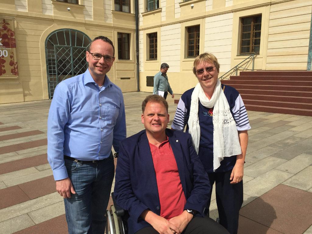 Harburger Bürgerschaftsabgeordnete in Prag: Sören Schumacher, Matthias Czech und Doris Müller